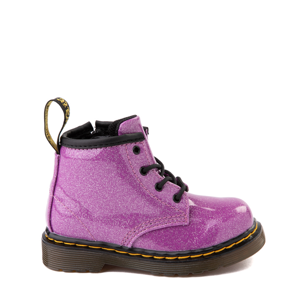 Main view of Dr. Martens 1460 4-Eye Glitter Boot - Girls Baby / Toddler - Pink