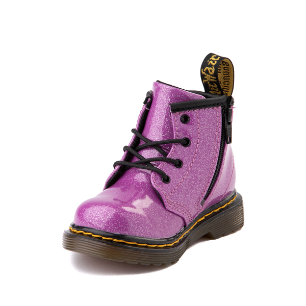 alternate view Dr. Martens 1460 4-Eye Glitter Boot - Baby / Toddler - PinkALT2