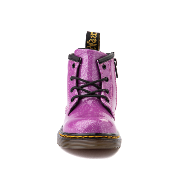 alternate view Dr. Martens 1460 4-Eye Glitter Boot - Baby / Toddler - PinkALT4