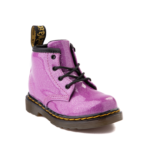 alternate view Dr. Martens 1460 4-Eye Glitter Boot - Baby / Toddler - PinkALT5