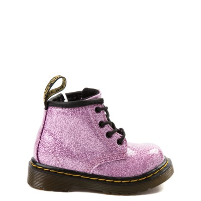 Main view of Dr. Martens 1460 4-Eye Glitter Boot - Girls Baby / Toddler