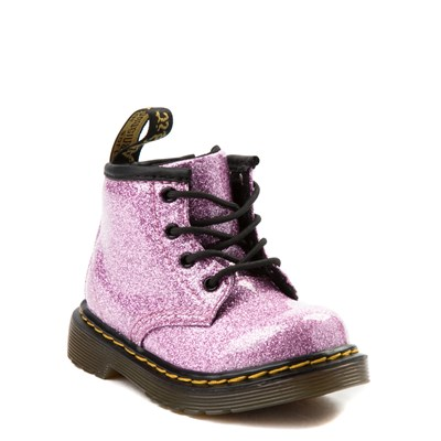 Alternate view of Dr. Martens 1460 4-Eye Glitter Boot - Girls Baby / Toddler