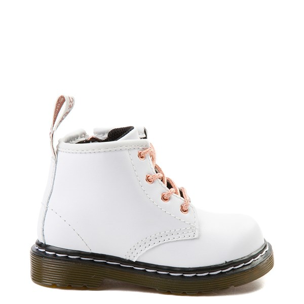 Dr. Martens 1460 4-Eye Boot - Girls Baby / Toddler - White / Rose Gold