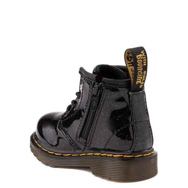 alternate view Dr. Martens 1460 4-Eye Glitter Boot - Girls Baby / Toddler - BlackALT2
