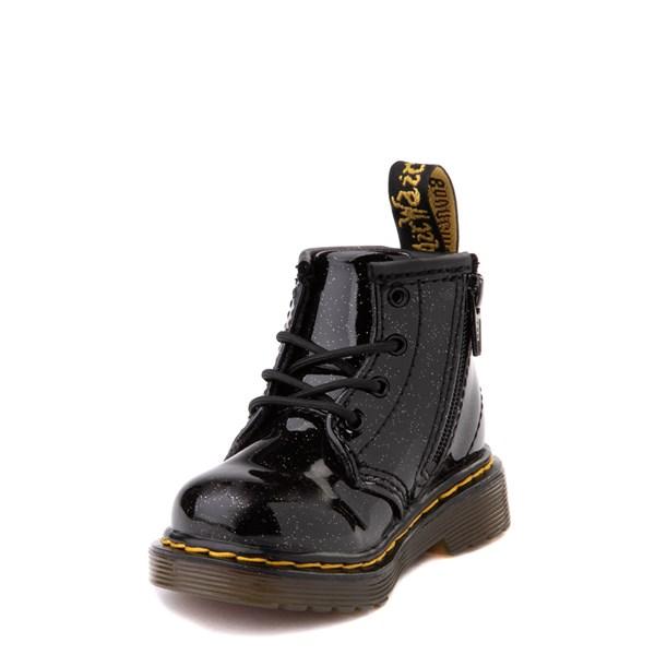 alternate view Dr. Martens 1460 4-Eye Glitter Boot - Girls Baby / Toddler - BlackALT3