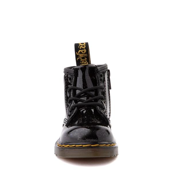 alternate view Dr. Martens 1460 4-Eye Glitter Boot - Girls Baby / Toddler - BlackALT4