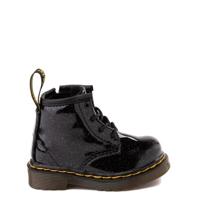 Main view of Dr. Martens 1460 4-Eye Glitter Boot - Girls Baby / Toddler - Black
