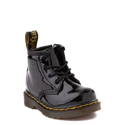 Alternate view of Dr. Martens 1460 4-Eye Glitter Boot - Girls Baby / Toddler - Black