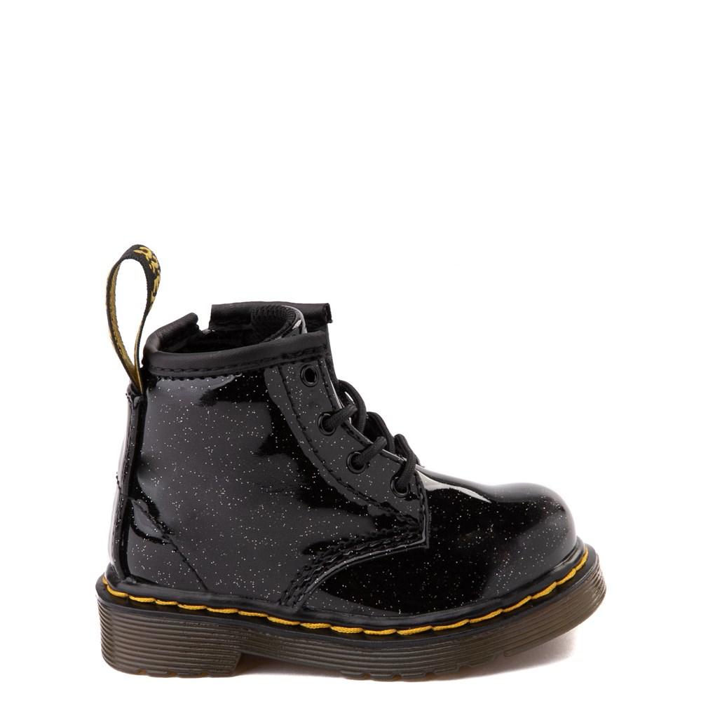Dr. Martens 1460 4-Eye Glitter Boot - Girls Baby / Toddler - Black