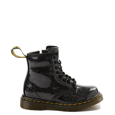 Main view of Dr. Martens 1460 8-Eye Glitter Boot - Girls Toddler - Black