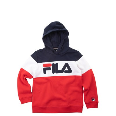 Alternate view of Fila Colorblock Logo Hoodie - Little Kid