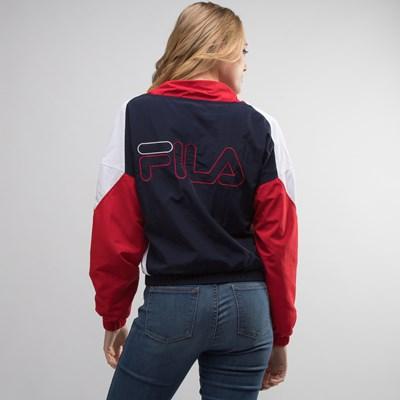 Alternate view of Womens Fila Tessa Anorak Jacket - White / Navy / Red