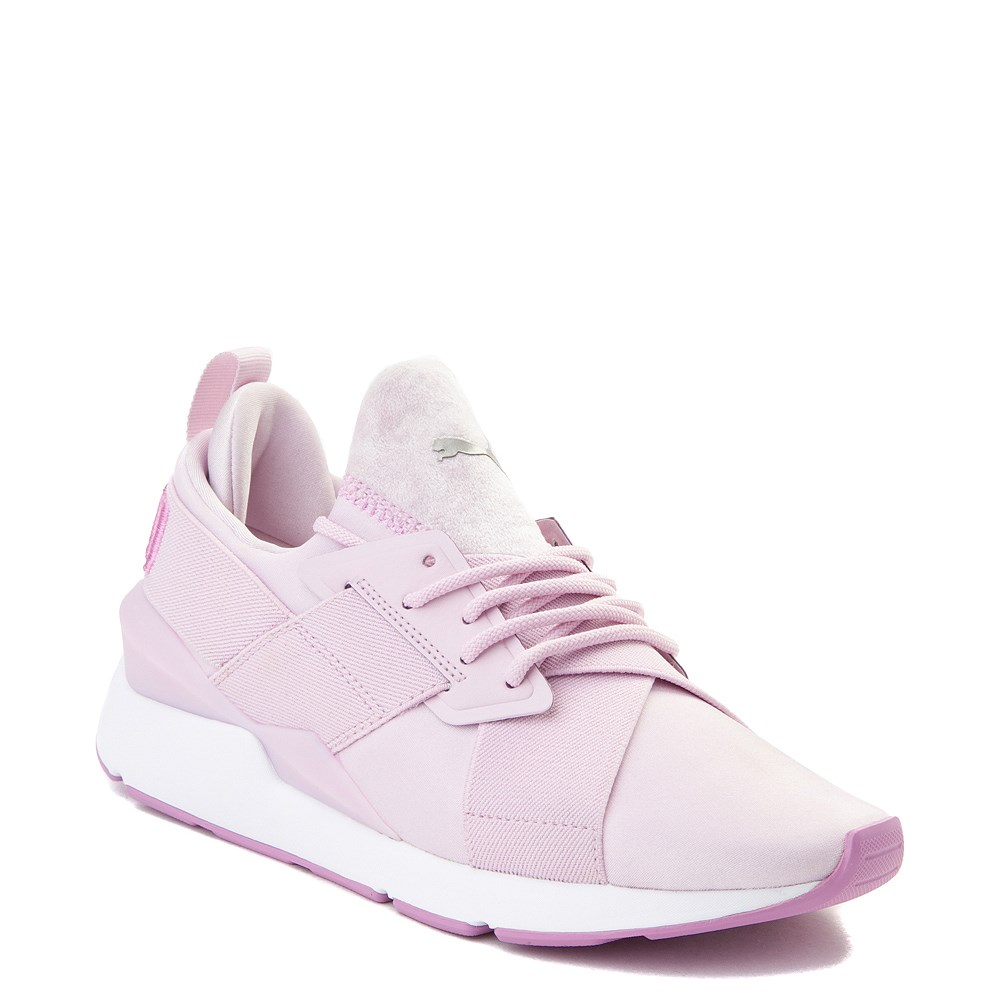 Womens Puma Muse Satin Athletic Shoe Pink