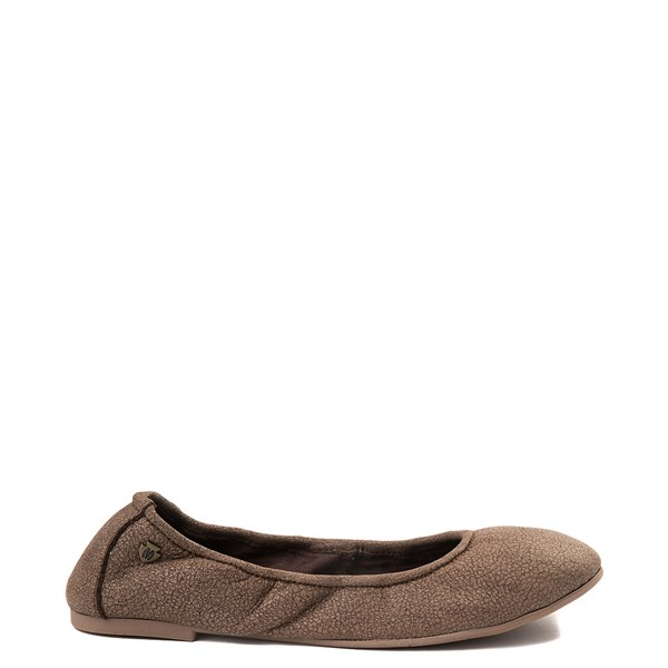 Womens Minnetonka Anna Flat - Chocolate