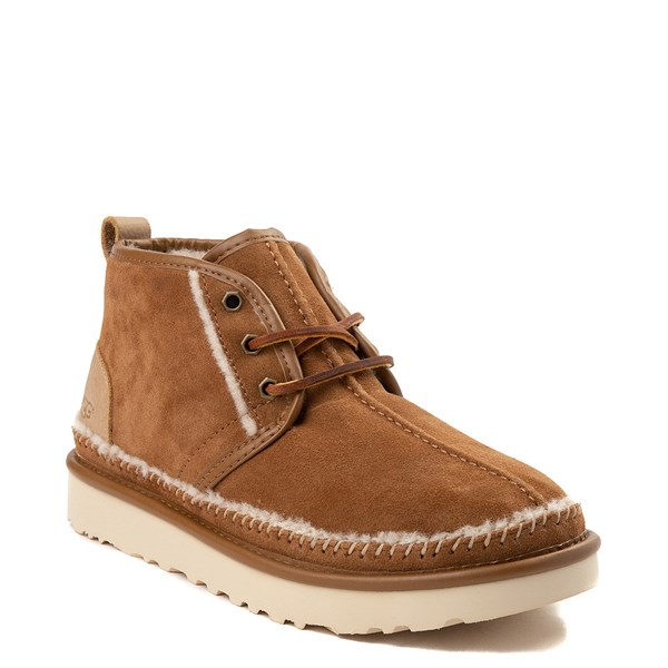 Alternate view of Mens UGG® Neumel Stitch Casual Shoe - Chestnut