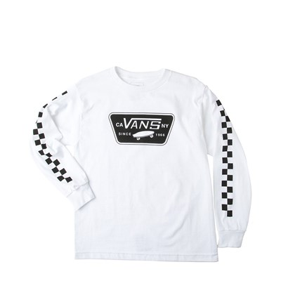 Main view of Youth Vans Full Patch Checkered Long Sleeve Tee