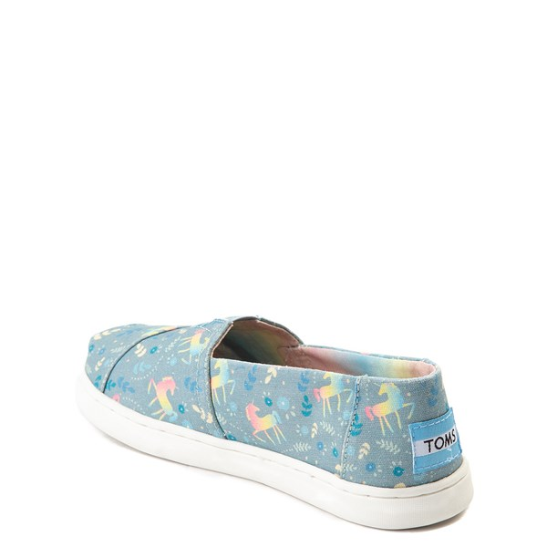 alternate view TOMS Classic Unicorn Slip On Casual Shoe - Little Kid / Big KidALT2