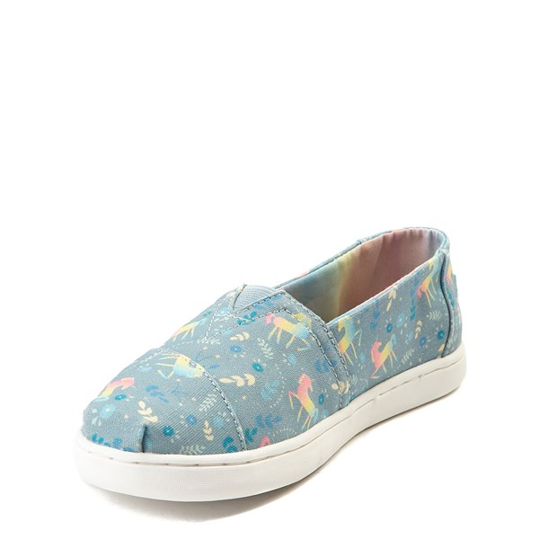 alternate view TOMS Classic Unicorn Slip On Casual Shoe - Little Kid / Big KidALT3