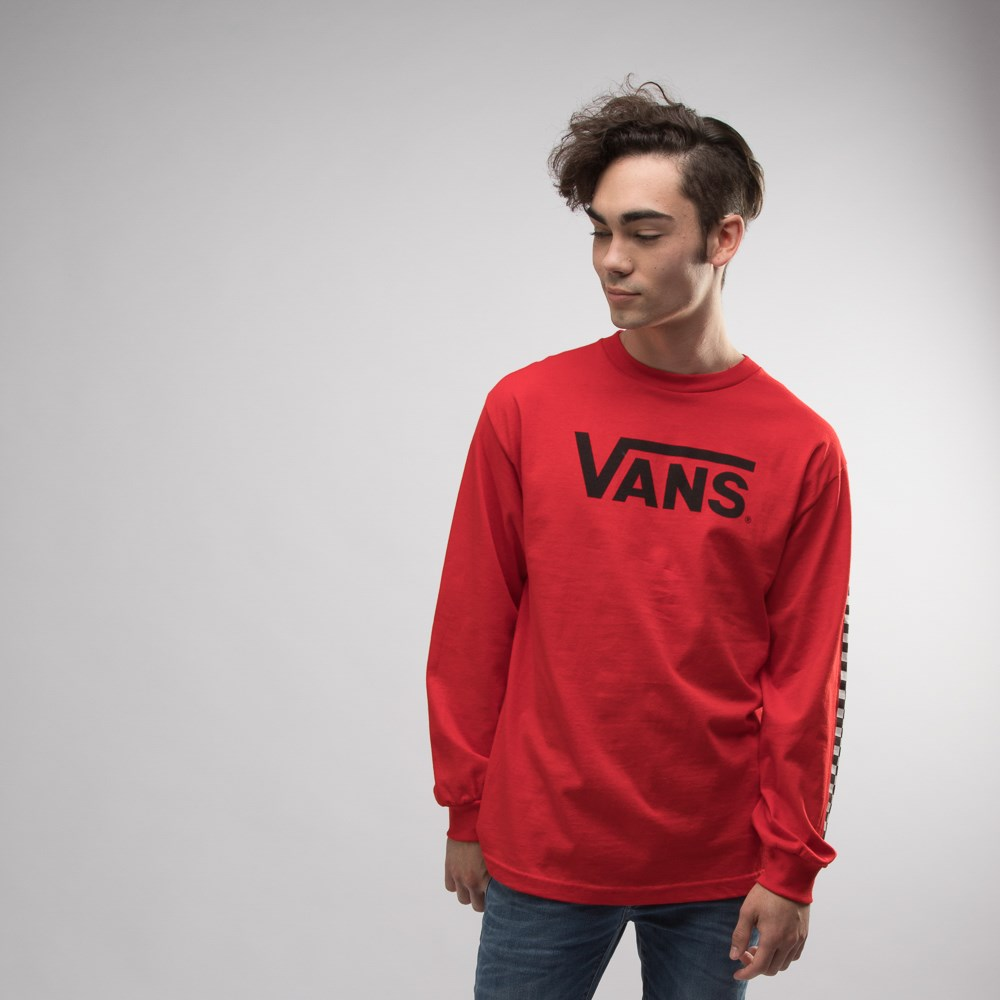 Mens Vans Classic Drop V Long Sleeve Crew Tee