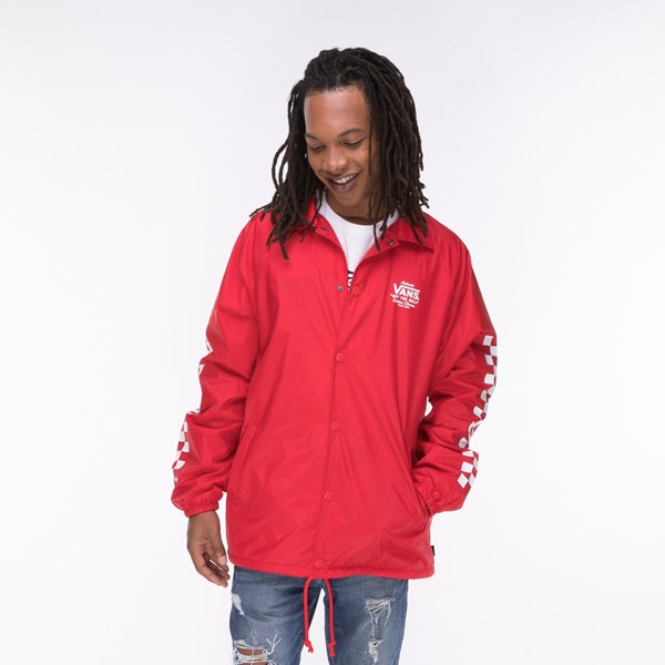 Mens Vans Coaches Jacket - Red