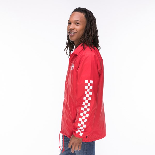 alternate view Mens Vans Coaches Jacket - RedALT2