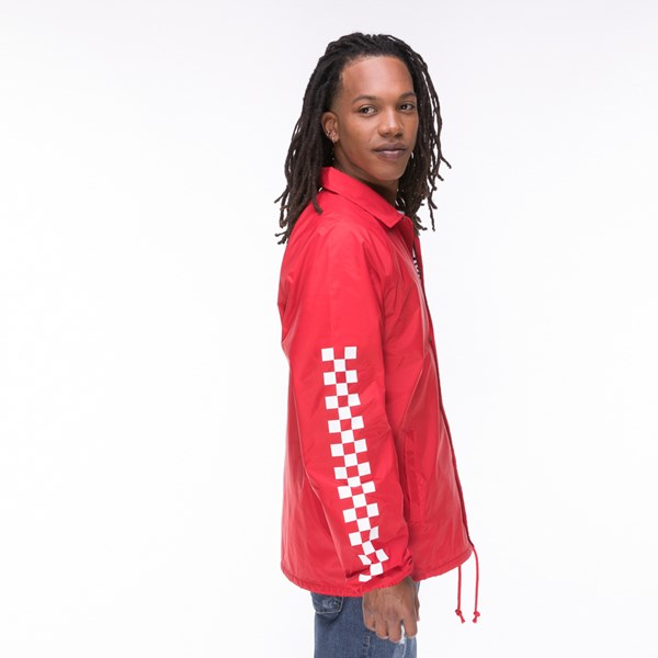 alternate view Mens Vans Coaches Jacket - RedALT3