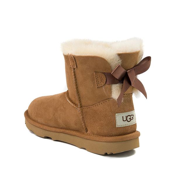 alternate view UGG® Mini Bailey Bow II Boot - Little Kid / Big Kid - ChestnutALT1