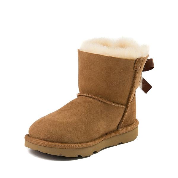 alternate view UGG® Mini Bailey Bow II Boot - Little Kid / Big Kid - ChestnutALT2