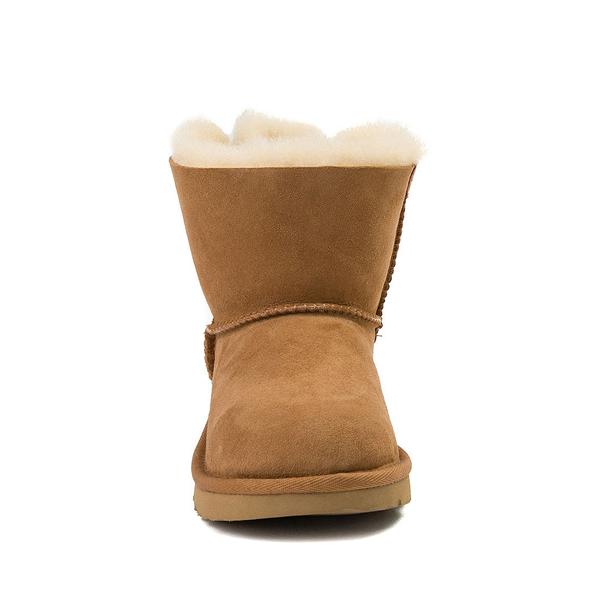 alternate view UGG® Mini Bailey Bow II Boot - Little Kid / Big Kid - ChestnutALT4