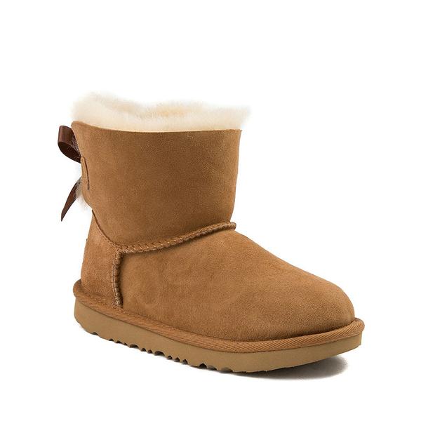 alternate view UGG® Mini Bailey Bow II Boot - Little Kid / Big Kid - ChestnutALT5