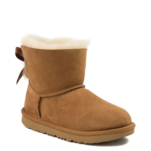 alternate view UGG® Mini Bailey Bow II Boot - Little Kid / Big Kid - ChestnutALT1