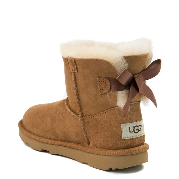 alternate view UGG® Mini Bailey Bow II Boot - Little Kid / Big Kid - ChestnutALT2
