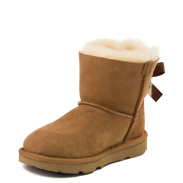 alternate view UGG® Mini Bailey Bow II Boot - Little Kid / Big Kid - ChestnutALT3