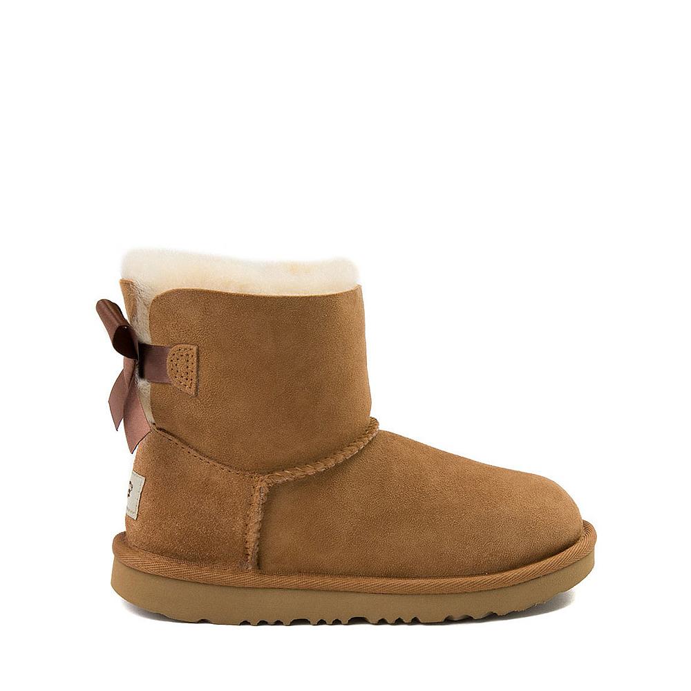 UGG® Mini Bailey Bow II Boot - Little Kid / Big Kid - Chestnut