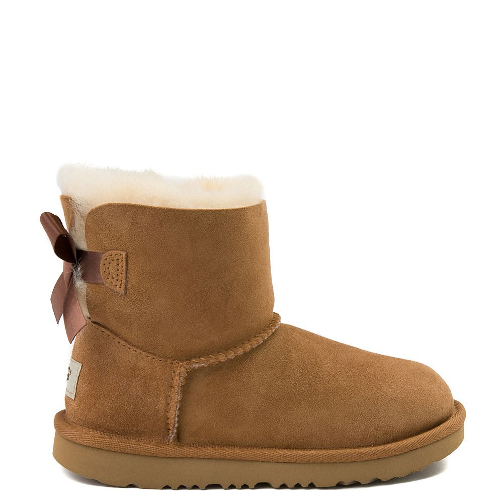 UGG® Mini Bailey Bow II Boot - Little Kid / Big Kid - Chestnut