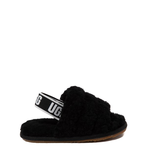 Main view of UGG® Fluff Yeah Slide Sandal - Toddler / Little Kid - Black