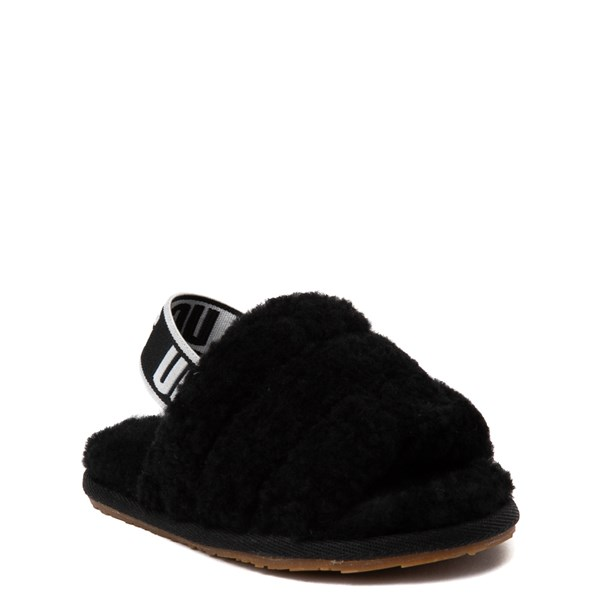 alternate view UGG® Fluff Yeah Slide Sandal - Toddler / Little Kid - BlackALT1