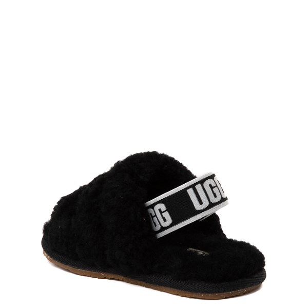 alternate view UGG® Fluff Yeah Slide Sandal - Toddler / Little Kid - BlackALT2