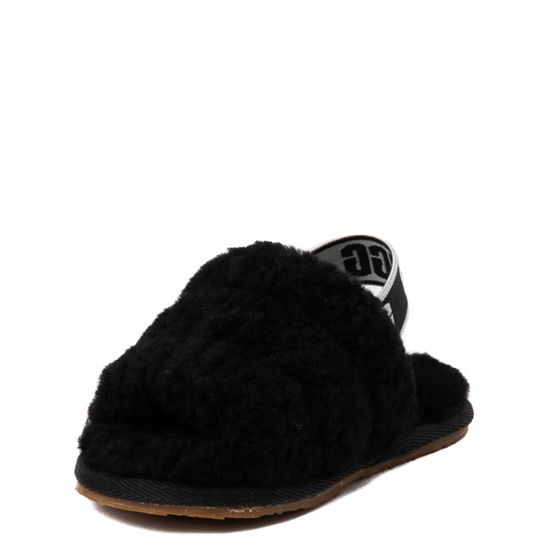 alternate view UGG® Fluff Yeah Slide Sandal - Toddler / Little Kid - BlackALT3