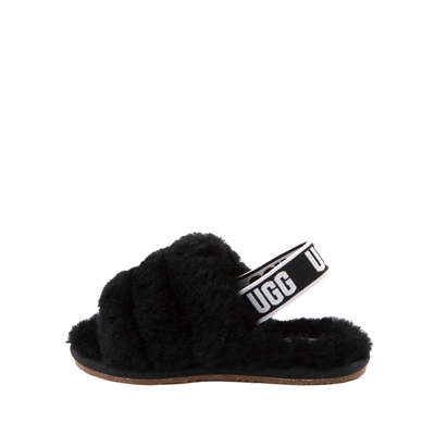 Alternate view of UGG® Fluff Yeah Slide Sandal - Toddler / Little Kid - Black
