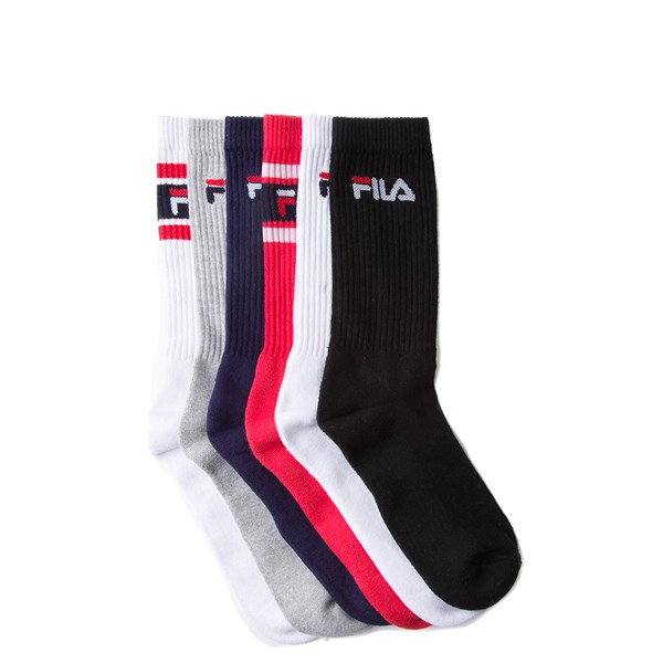 Mens Fila Crew Socks 6 Pack - Multi