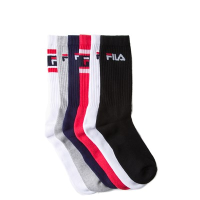 Main view of Mens Fila Crew Socks 6 Pack - Multi