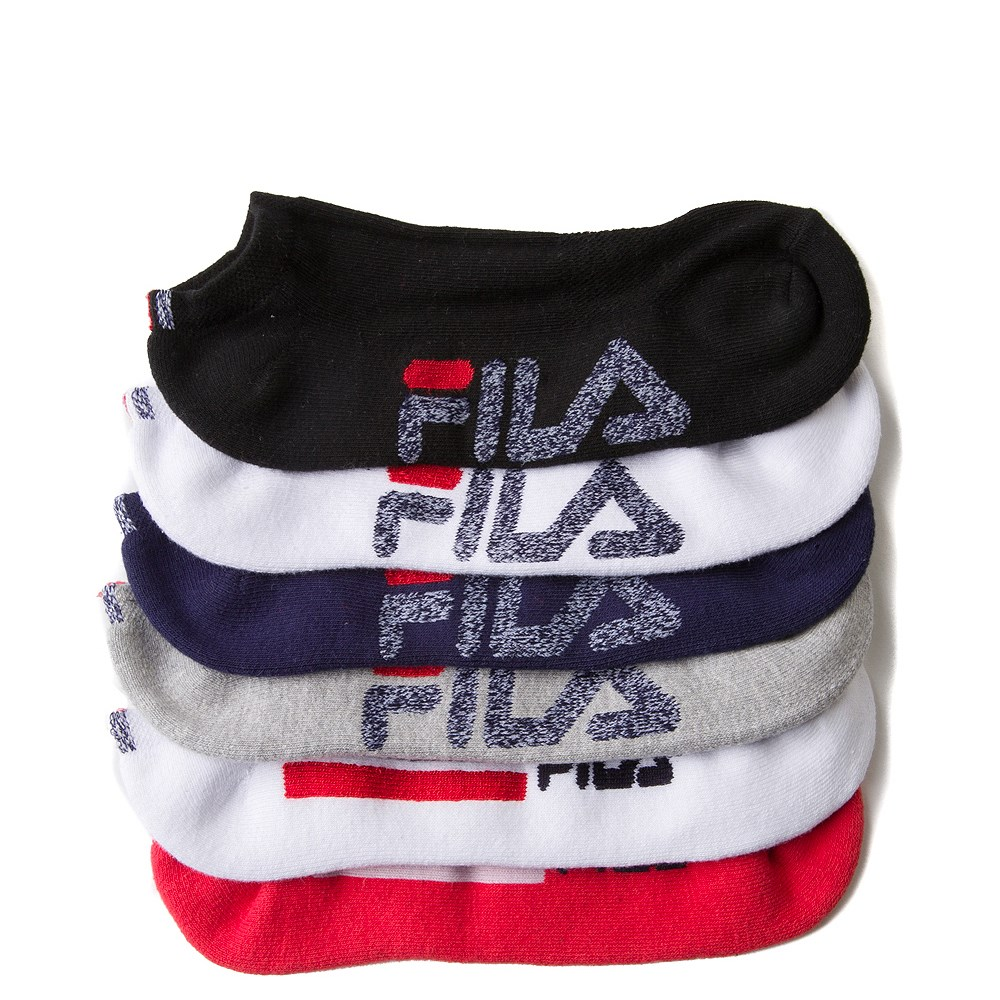 Mens Fila Low Cut Socks 6 Pack