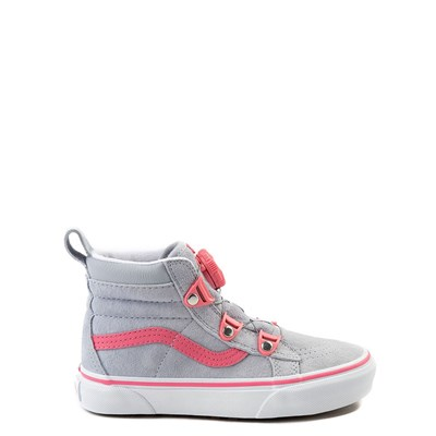 Youth/Tween Gray and Pink Vans Sk8 Hi MTE BOA Skate Shoe