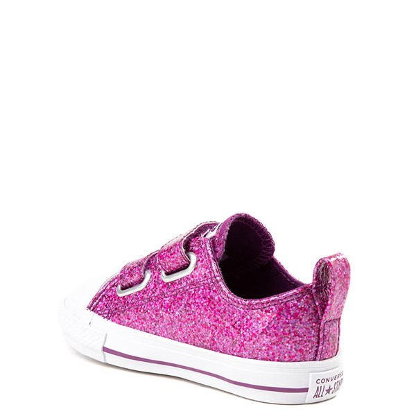 alternate view Converse Chuck Taylor All Star 2V Lo Glitter Sneaker - Baby / ToddlerALT2