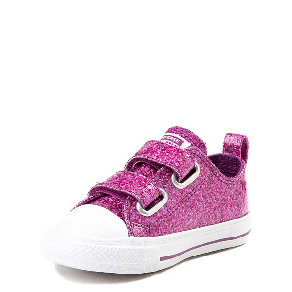 alternate view Converse Chuck Taylor All Star 2V Lo Glitter Sneaker - Baby / ToddlerALT3