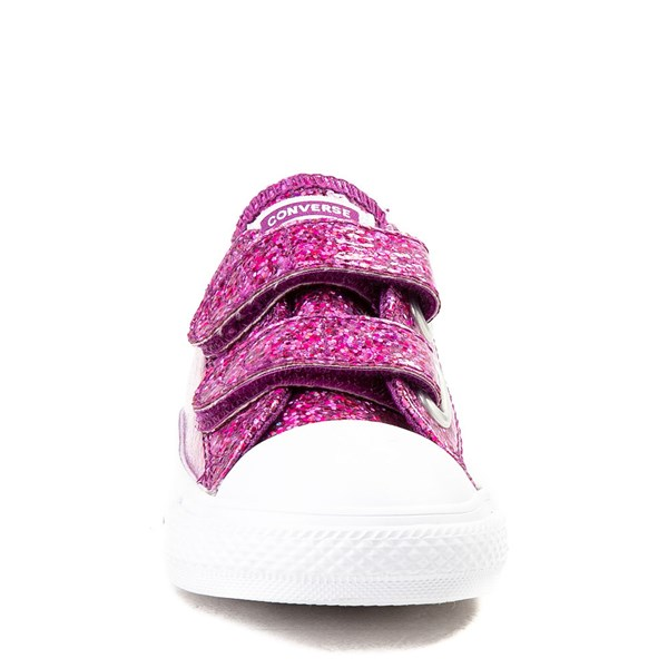 alternate view Converse Chuck Taylor All Star 2V Lo Glitter Sneaker - Baby / ToddlerALT4