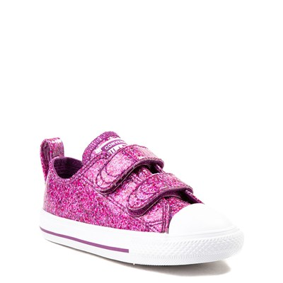 Alternate view of Converse Chuck Taylor All Star 2V Lo Glitter Sneaker - Baby / Toddler