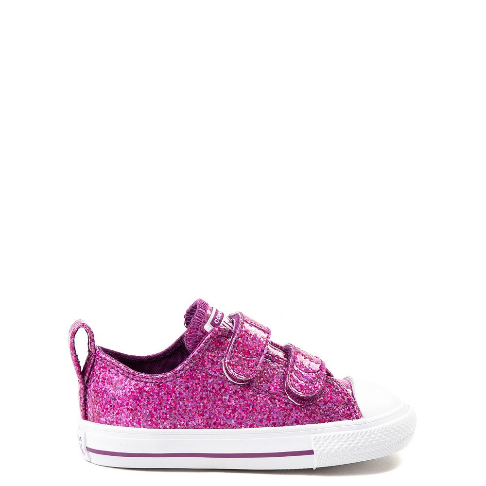 75e2a1ec67be Converse Chuck Taylor All Star 2V Lo Glitter Sneaker - Baby   Toddler.  alternate image default view ...