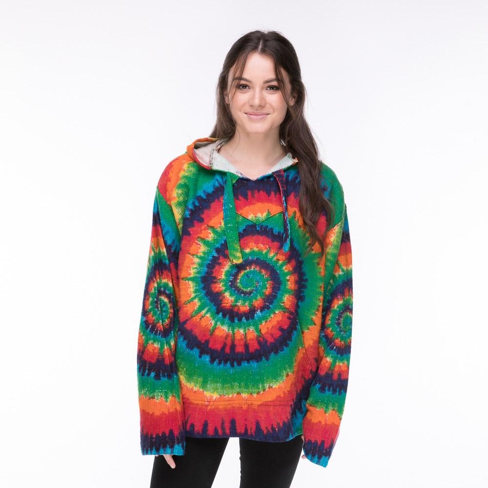 Women's Tie Dye Baja Poncho